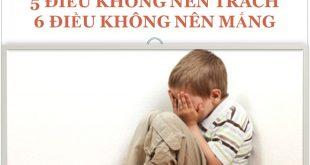 Không trách mắng trẻ - Bí quyết dạy con